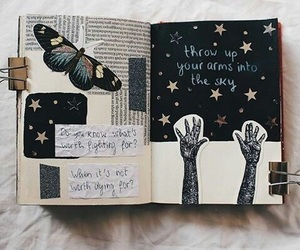 journal, journaling, and art image