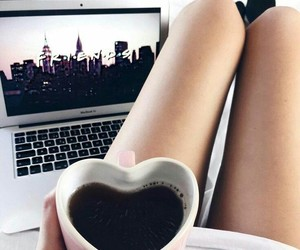 coffee, heart, and legs image