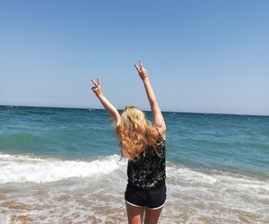 beach, summer, and blond image