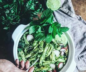 basil, diner, and food image