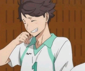 haikyuu, anime, and oikawa image