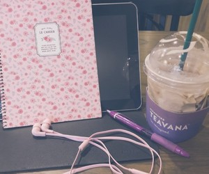 cafe, pink, and study image