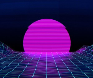 vaporwave, aesthetic, and blue image