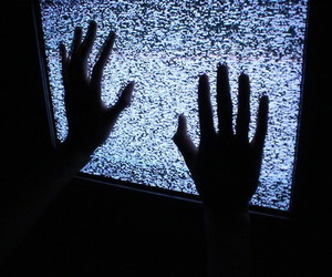 grunge, tv, and hands image