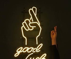 neon, light, and good luck image