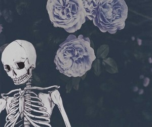 grunge, skeleton, and wallpaper image