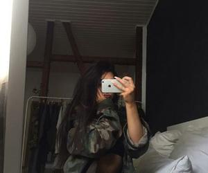 girls, mirror selfie, and haïr image