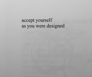 black, qoute, and accept yourself image