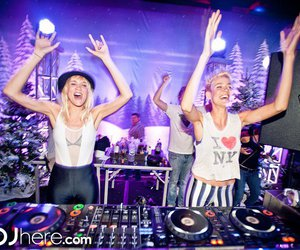 dj, blonde, and party image