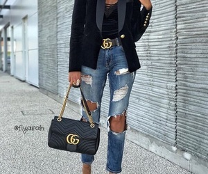 gucci, bag, and outfit image