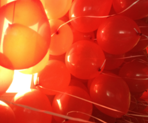 balloons, orange, and party image