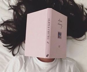 book, girl, and pink image