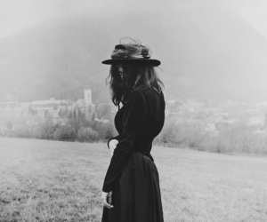 witch, black and white, and photography image