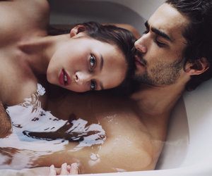 bath, couple, and goals image
