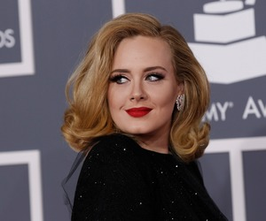 Adele, blonde, and green eyes image