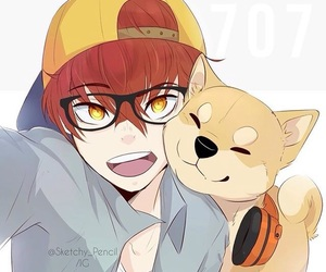 707, cute, and mystic messenger image