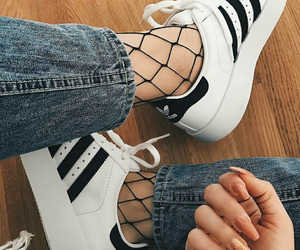 adidas, fashion, and nails image