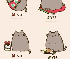 cat, christmas, and pusheen image