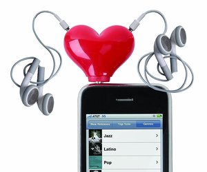 headphone, couple, and gadget image