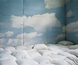 blue, clouds, and room image