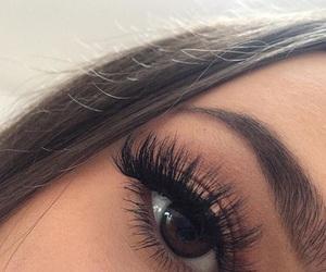 beautiful, eyelashes, and brown image