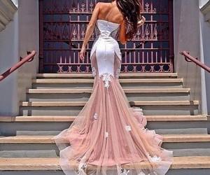 dress, formal, and light pink image