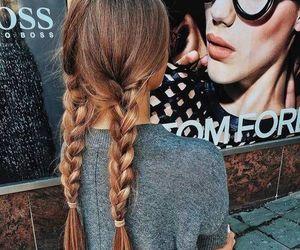 hair, girl, and braid image
