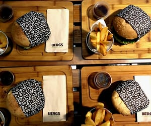 bergs burger in central building district ft. missing napkin on one of those plates- taken with iphone 5se