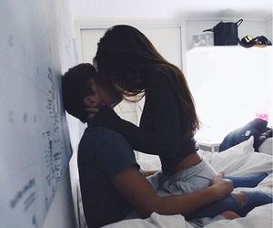 bedroom, couple, and her image