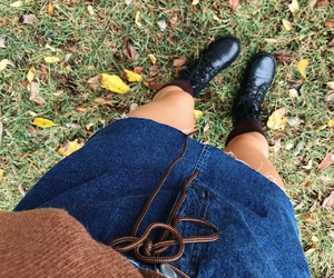 boots, crisp, and fall image