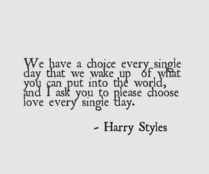 quote and Harry Styles image