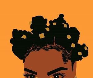 art, hair, and bantu knots image