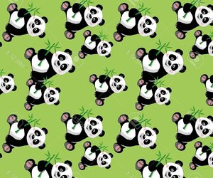 green, pandas, and verde image