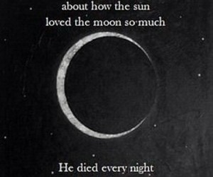 love story, moon, and night image