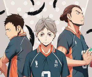 anime, haikyuu, and koshi sugawara image