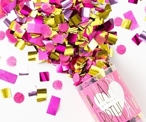 b-day, birthday, and confetti image