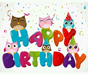 cutie, owls, and hbd image