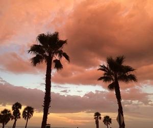 sky, orange, and sunset image