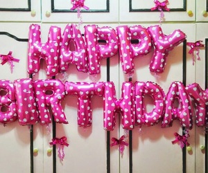 bday, happy, and pink image