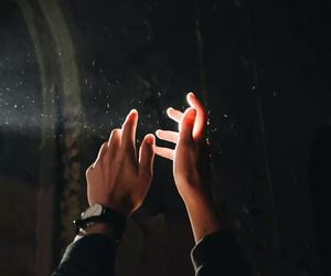 light, hands, and boy image