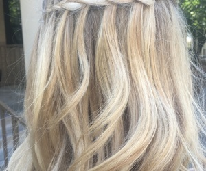 blond, blonde, and braid image
