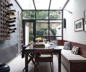 art, bench, and window image