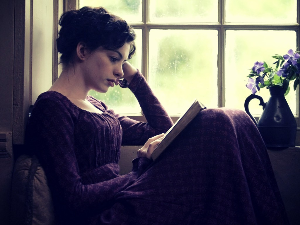 jane austen, book, and reading image