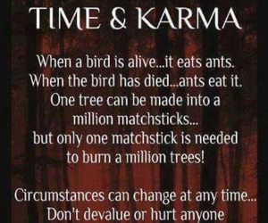 quotes, karma, and time image