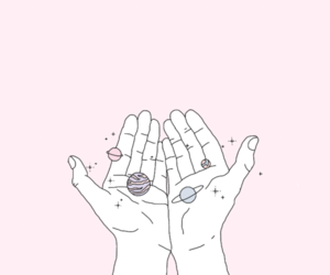 pink, hands, and pastel image