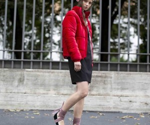 blogger, fashion, and red image