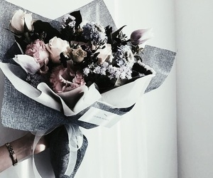 flowers, bouquet, and picture image