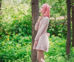 sakura, naruto cosplay, and haruno sakura image