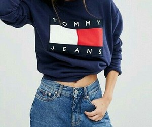 beauty, jeans, and tommy jeans image