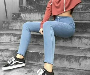 girl, outfit, and crop image